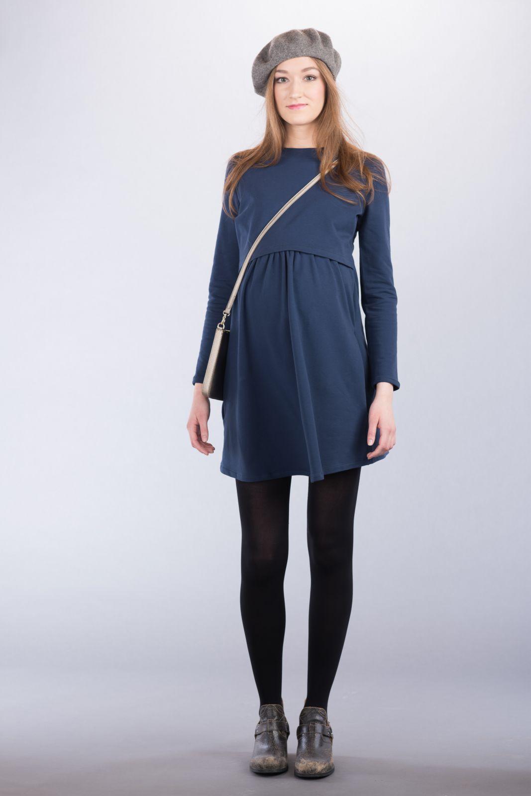 Těhotenské šaty BEBEFIELD - Isla Navy
