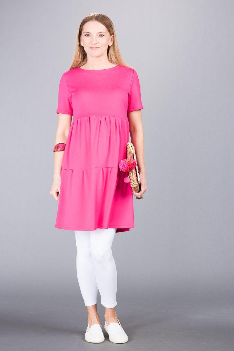 Těhotenské šaty BEBEFIELD - Marlena Fuchsia