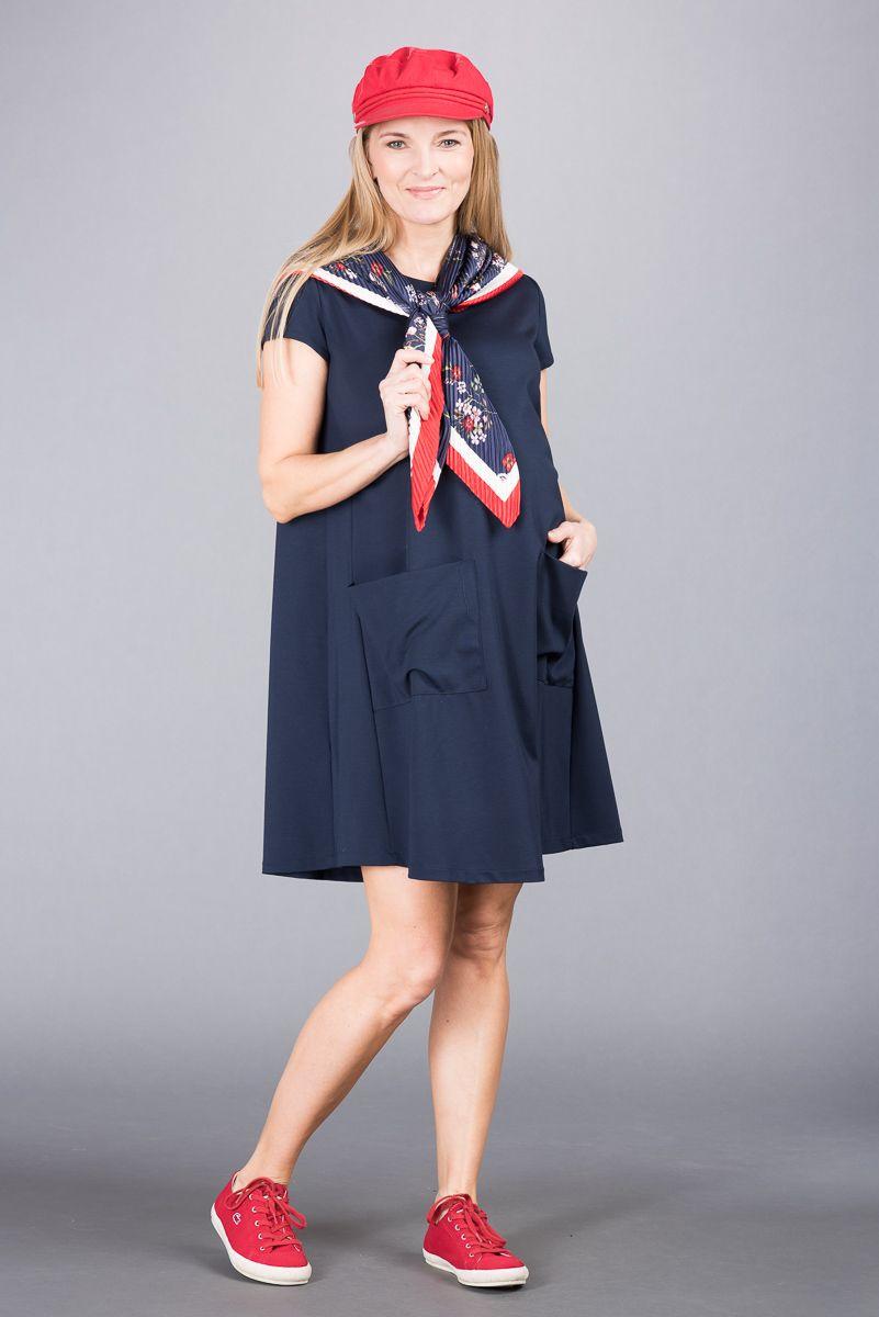 Těhotenské šaty BEBEFIELD - Mila Navy
