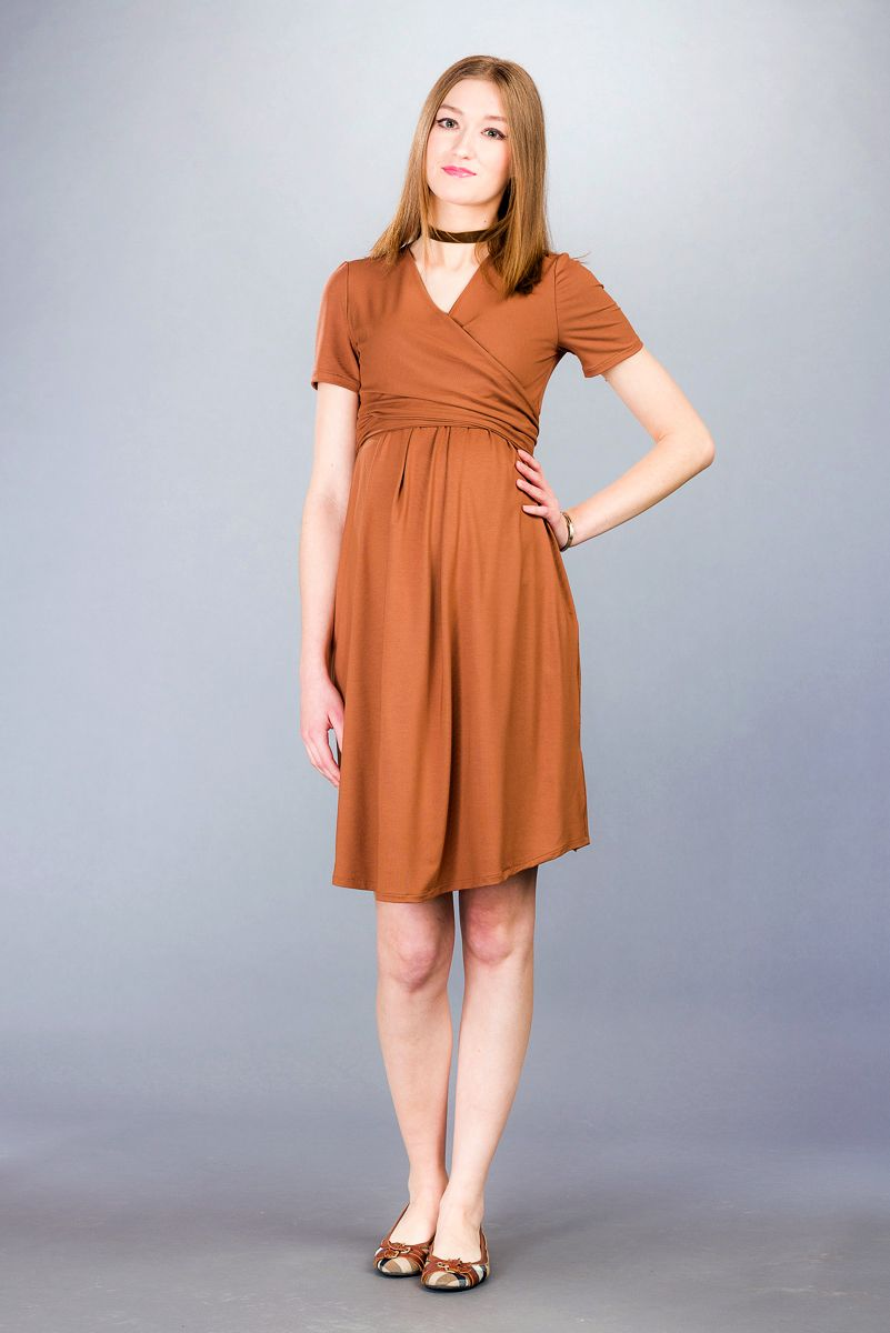 Těhotenské šaty BEBEFIELD - Pina Cinnamon