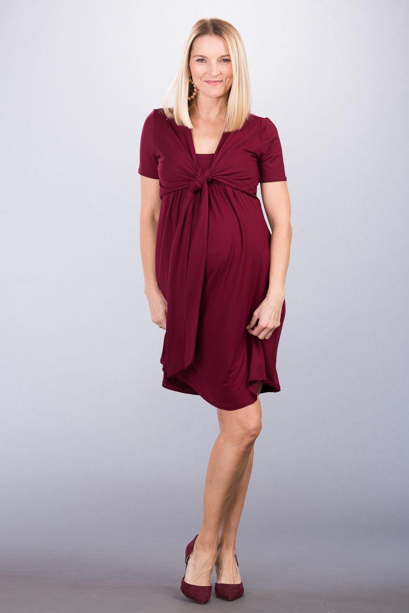 Těhotenské šaty BEBEFIELD - Pina Claret