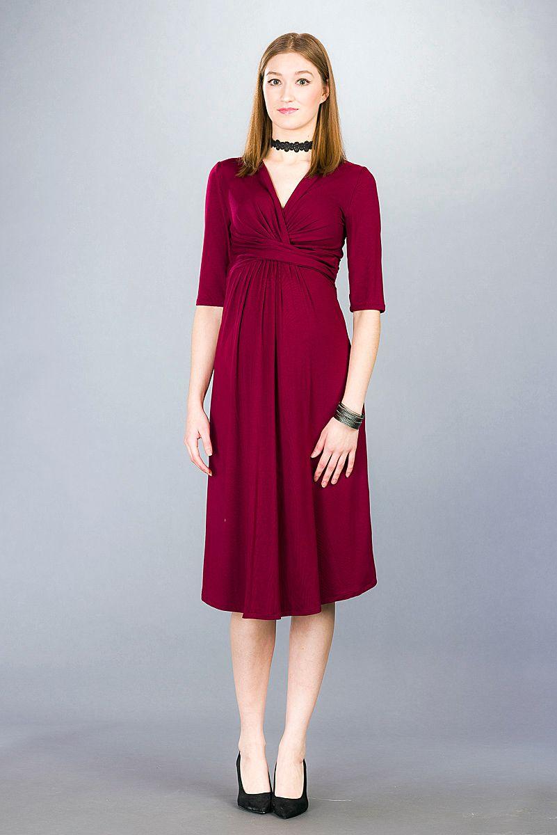 Těhotenské šaty BEBEFIELD - Priscilla Burgundy