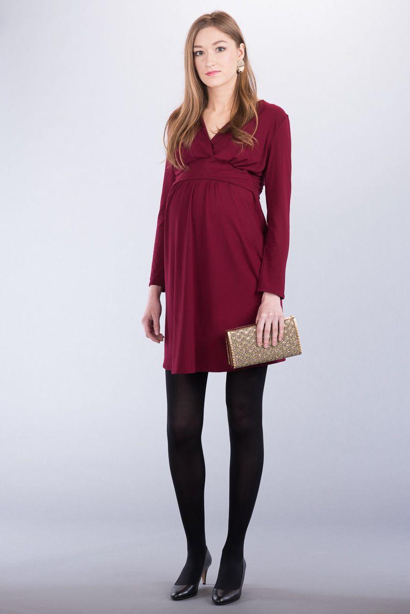 Těhotenské šaty BEBEFIELD - Rebecca Claret