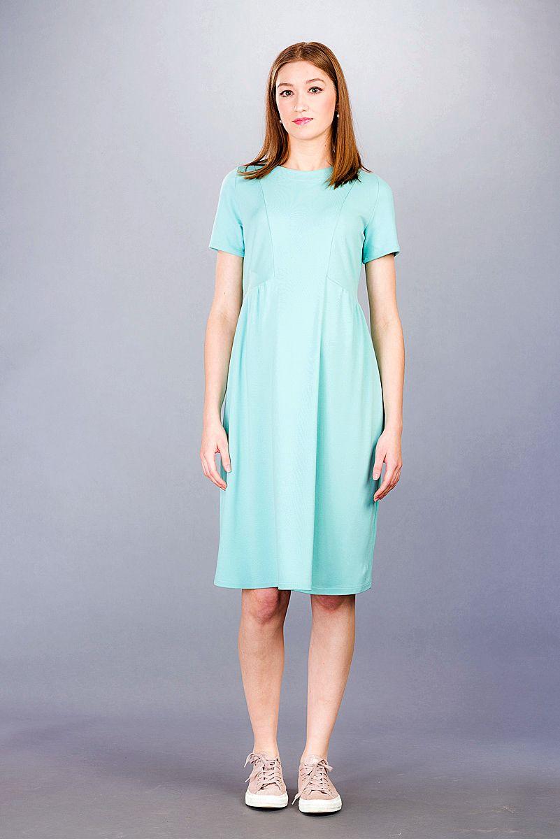 Těhotenské šaty BEBEFIELD - Selina Aqua