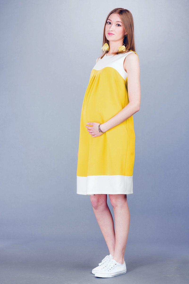 Těhotenské šaty BEBEFIELD - Virginia Yellow