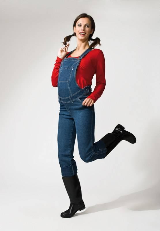 Těhotenské kalhoty Torelle - Zahradníky džínové - velikost XL