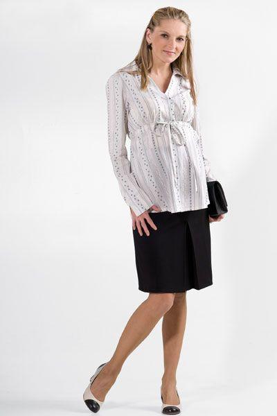 Těhotenská sukně BEBEFIELD - Roselle Black