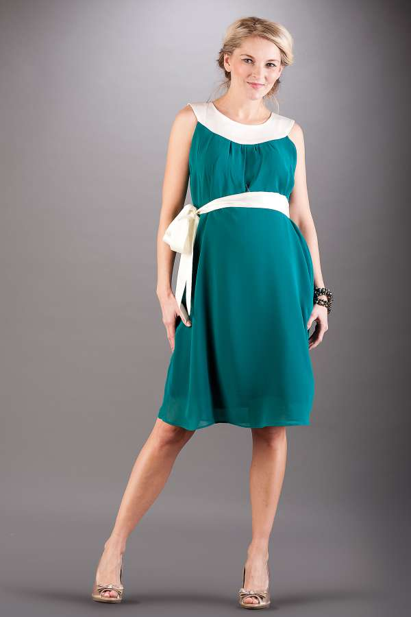 Těhotenské šaty BEBEFIELD - Amelia Ocean