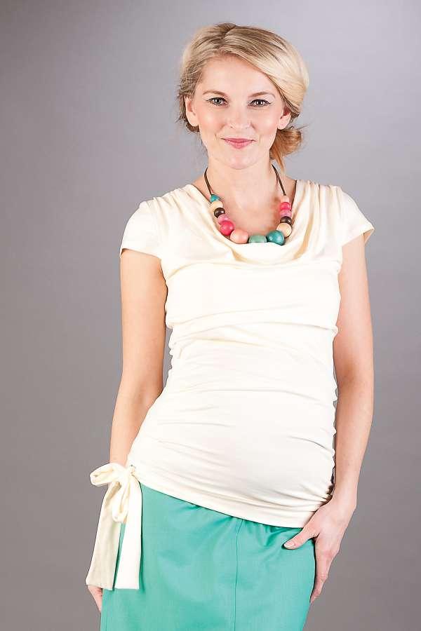 Těhotenská halenka BEBEFIELD - Patrizia Ecru