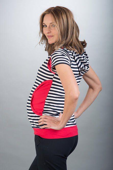Těhotenská halenka BEBEFIELD - Megan Navy