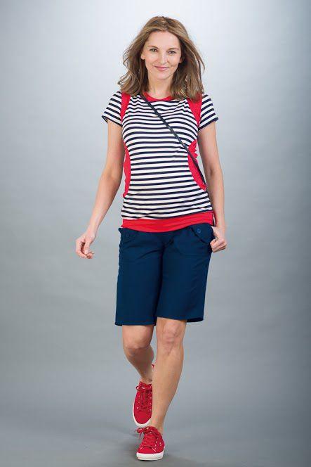 Těhotenské kalhoty BEBEFIELD - Oman Navy