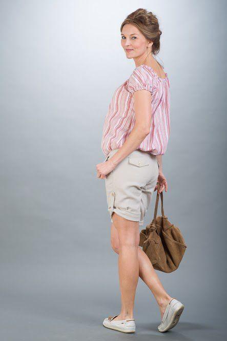 Těhotenské kalhoty BEBEFIELD - Oman Sand