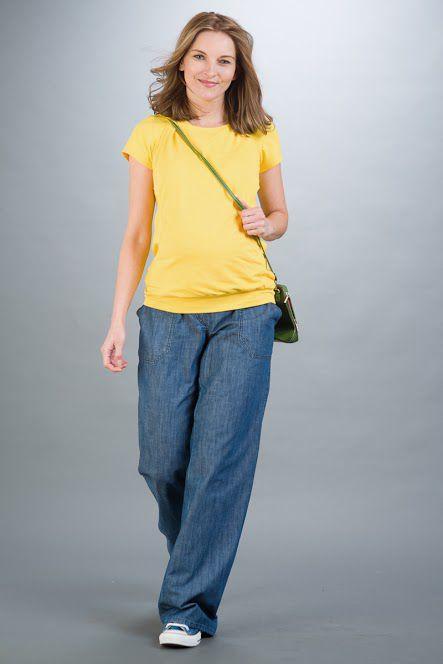Těhotenské kalhoty BEBEFIELD - Roma Jeans