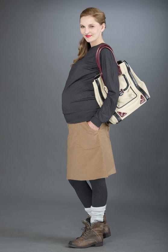 Těhotenská sukně BEBEFIELD - Lola Sand