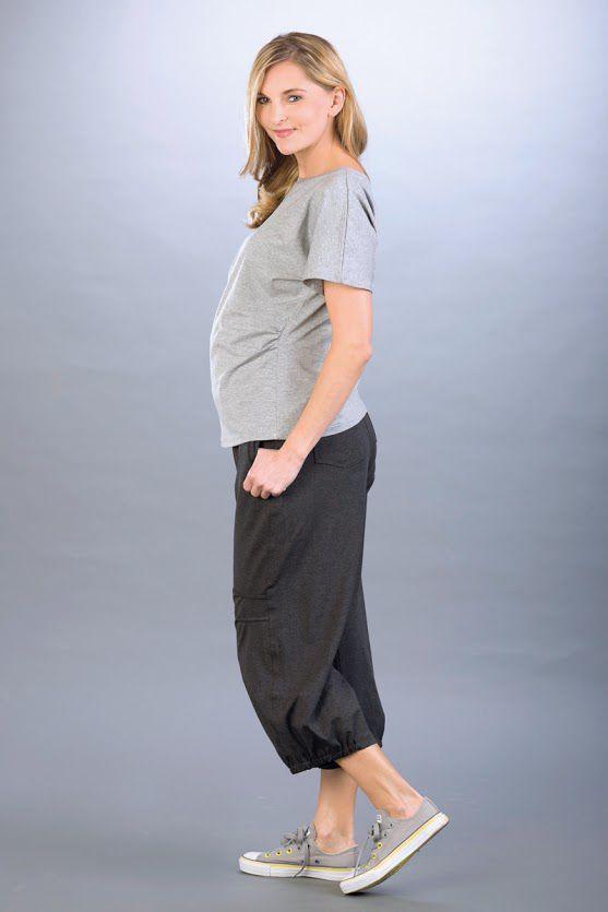 Těhotenské kalhoty BEBEFIELD - Fado Navy