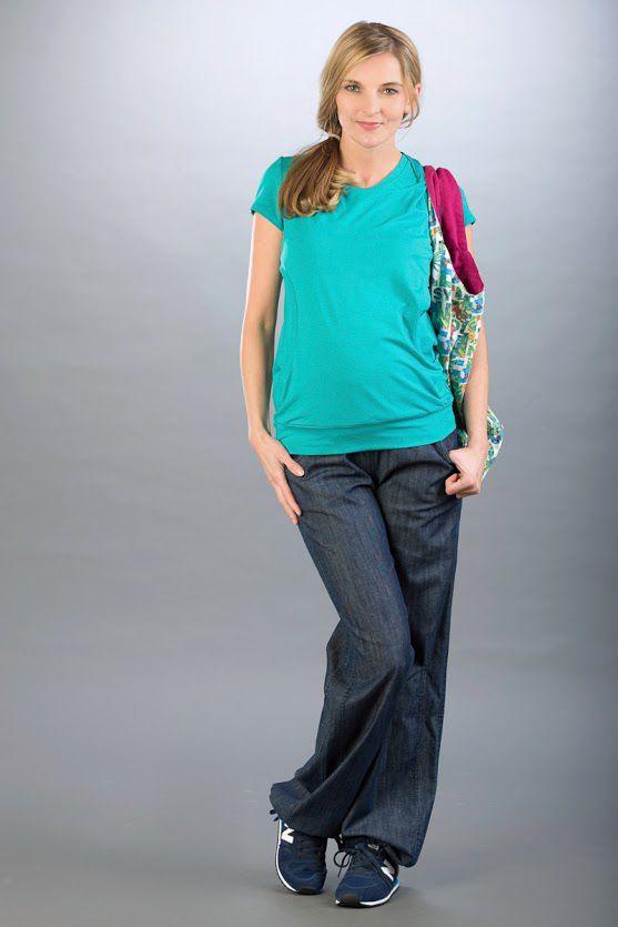 Těhotenské kalhoty BEBEFIELD - Leo Jeans