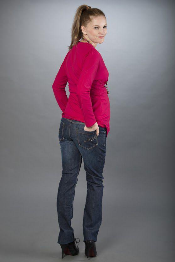 Těhotenské kalhoty BEBEFIELD - Venezia Navy Jeans
