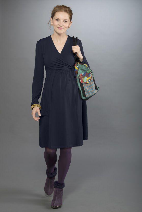 Těhotenské šaty BEBEFIELD - Jeanne Navy