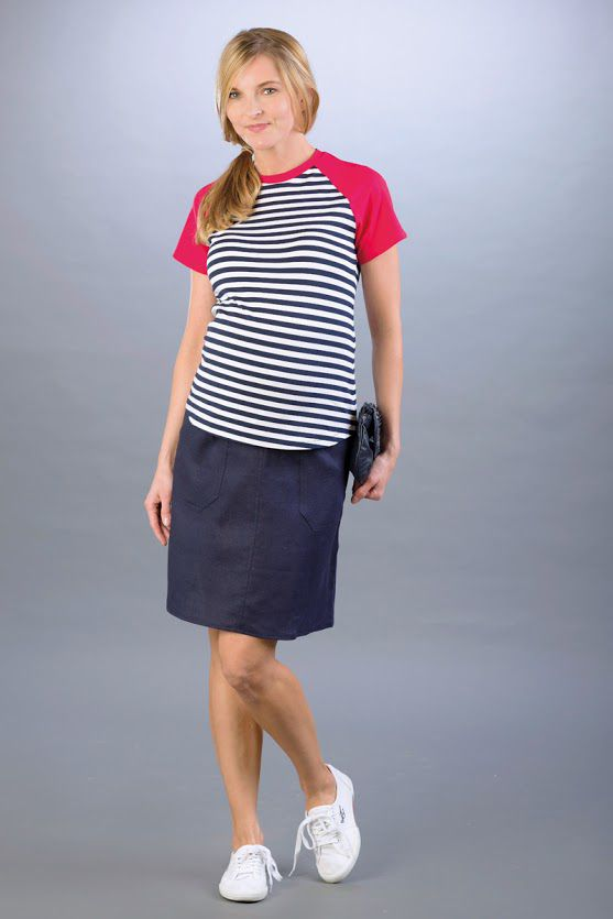 Těhotenská sukně BEBEFIELD - Lori Navy