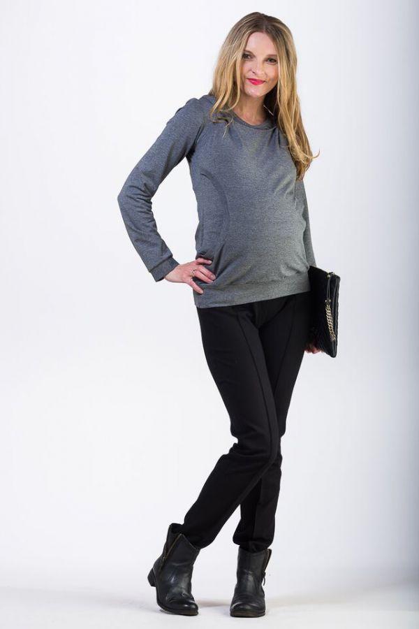 Těhotenské kalhoty BEBEFIELD - Enzo Black