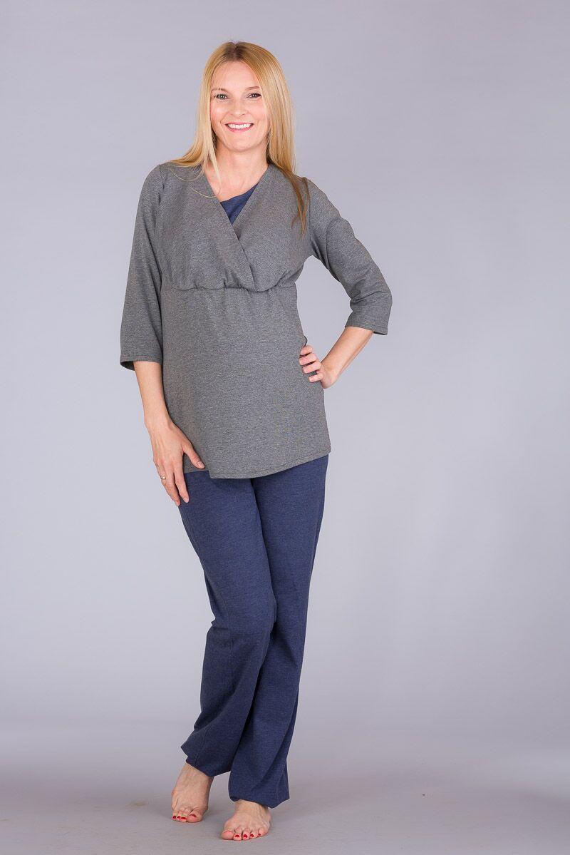 Kojící pyžamo BEBEFIELD - Wellness Grey - velikost M