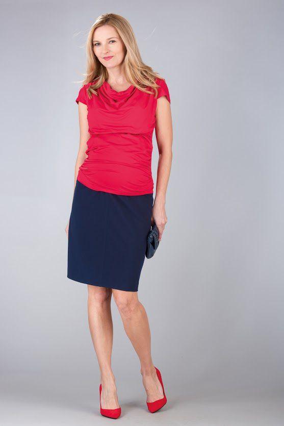Těhotenská sukně BEBEFIELD - Rania Navy