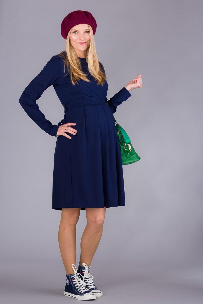 Těhotenské šaty BEBEFIELD - Ariana Navy