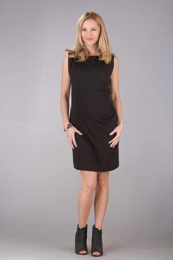 Těhotenské šaty BEBEFIELD - Grazia Black