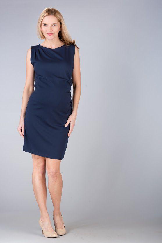 Těhotenské šaty BEBEFIELD - Grazia Navy - Velikost 42