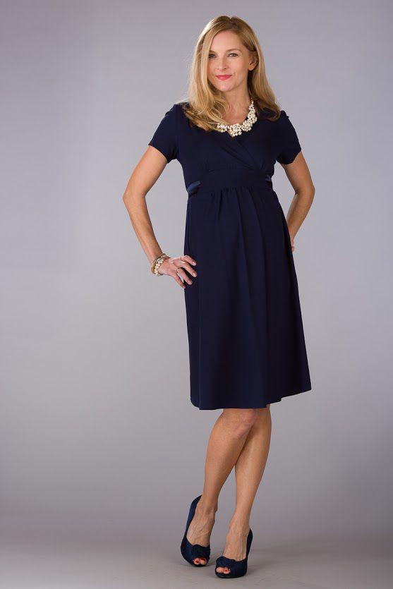 Těhotenské šaty BEBEFIELD - Inez Navy
