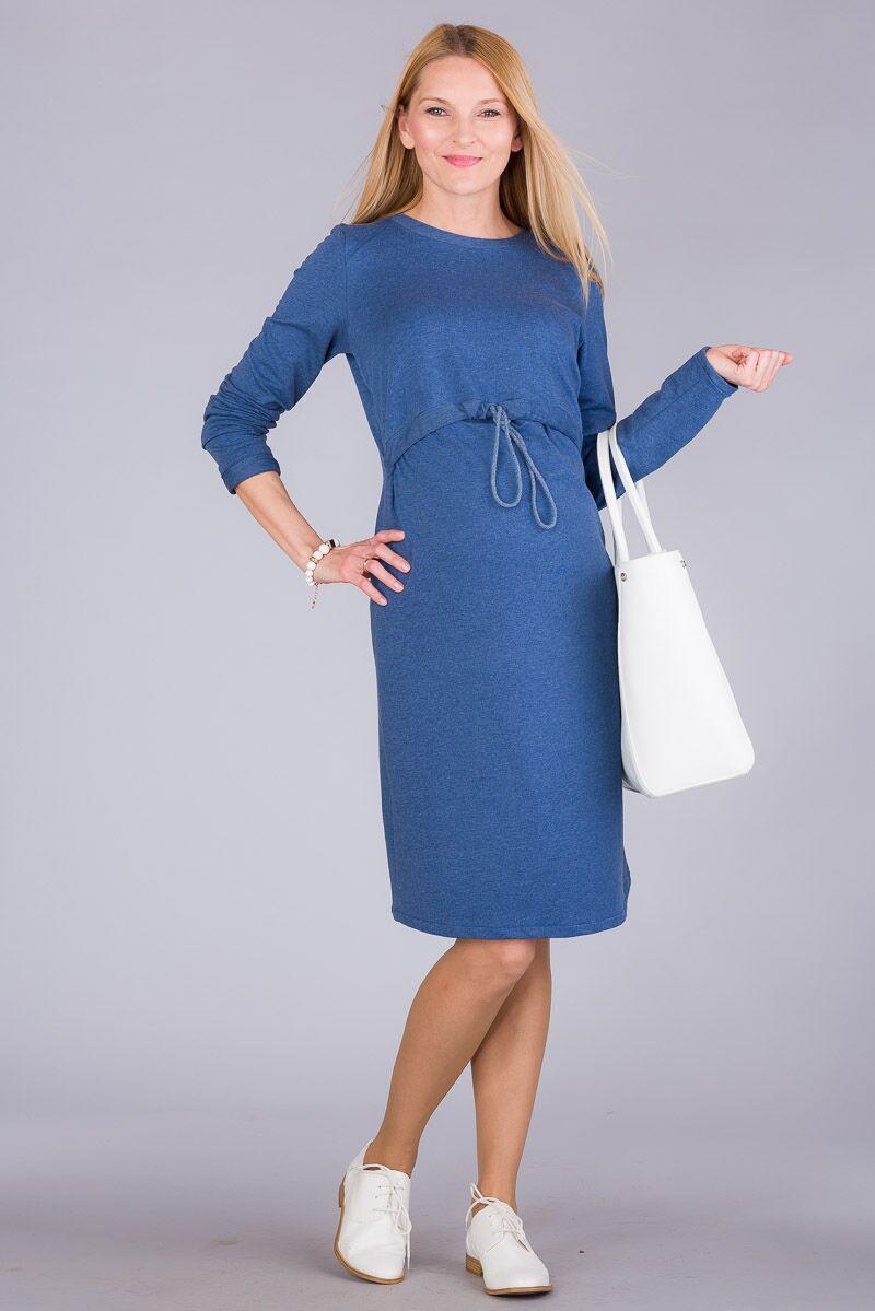Těhotenské šaty BEBEFIELD - Stella Blue
