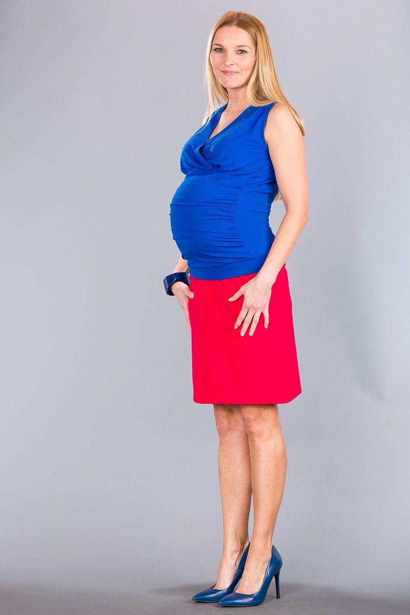 Těhotenská halenka BEBEFIELD - Lucy Cobalt Blue
