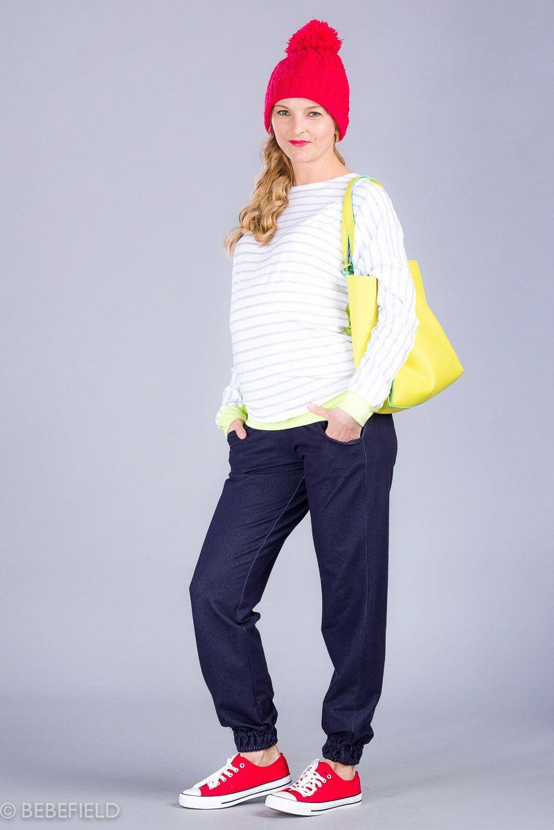 Těhotenské kalhoty BEBEFIELD - Girona Navy