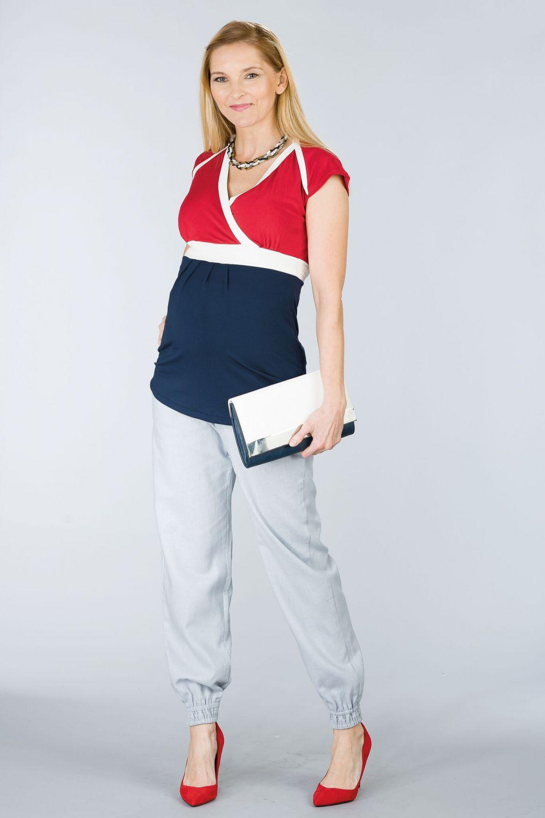 Těhotenské kalhoty BEBEFIELD - Lowa Grey