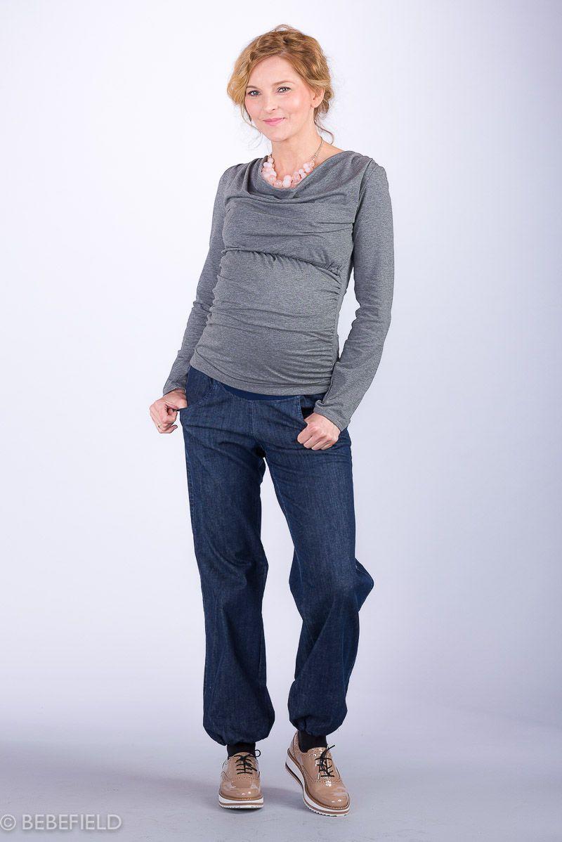 Těhotenské kalhoty BEBEFIELD - Turin Jeans