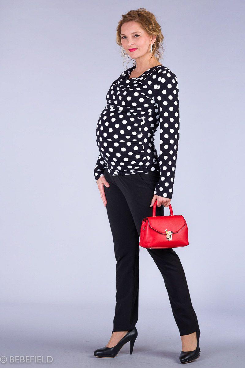 Těhotenské kalhoty BEBEFIELD - Valencia Black