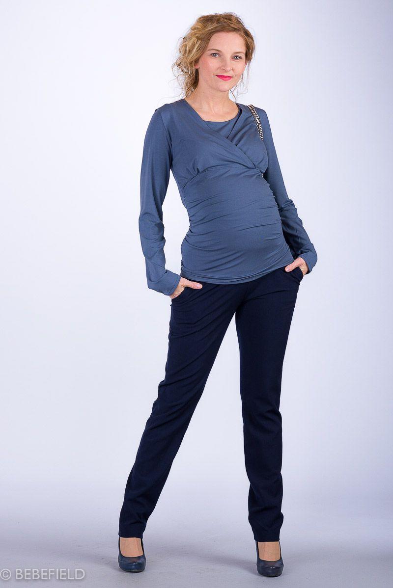 Těhotenské kalhoty BEBEFIELD - Valencia Navy