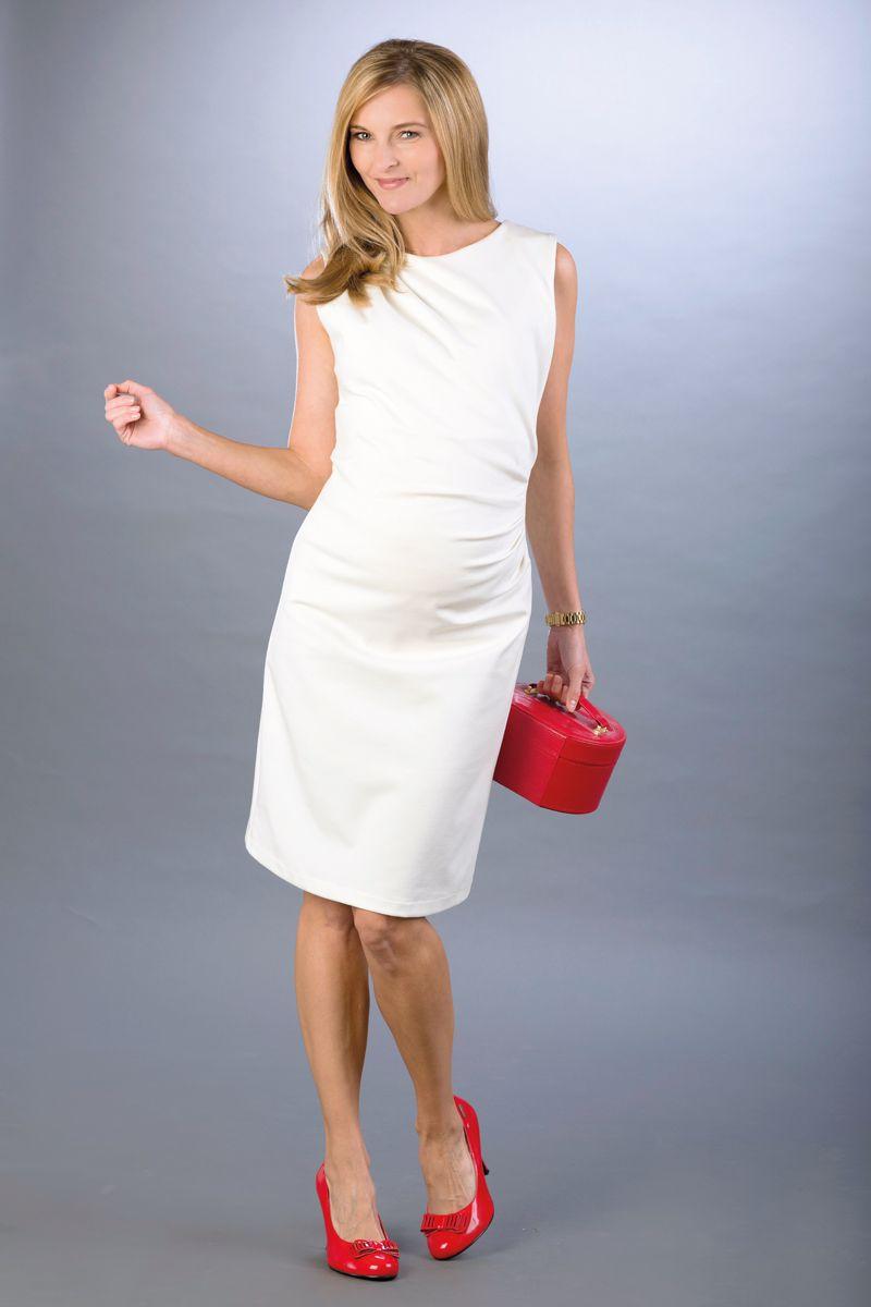 Těhotenské šaty BEBEFIELD - Grazia Ecru - Velikost 44