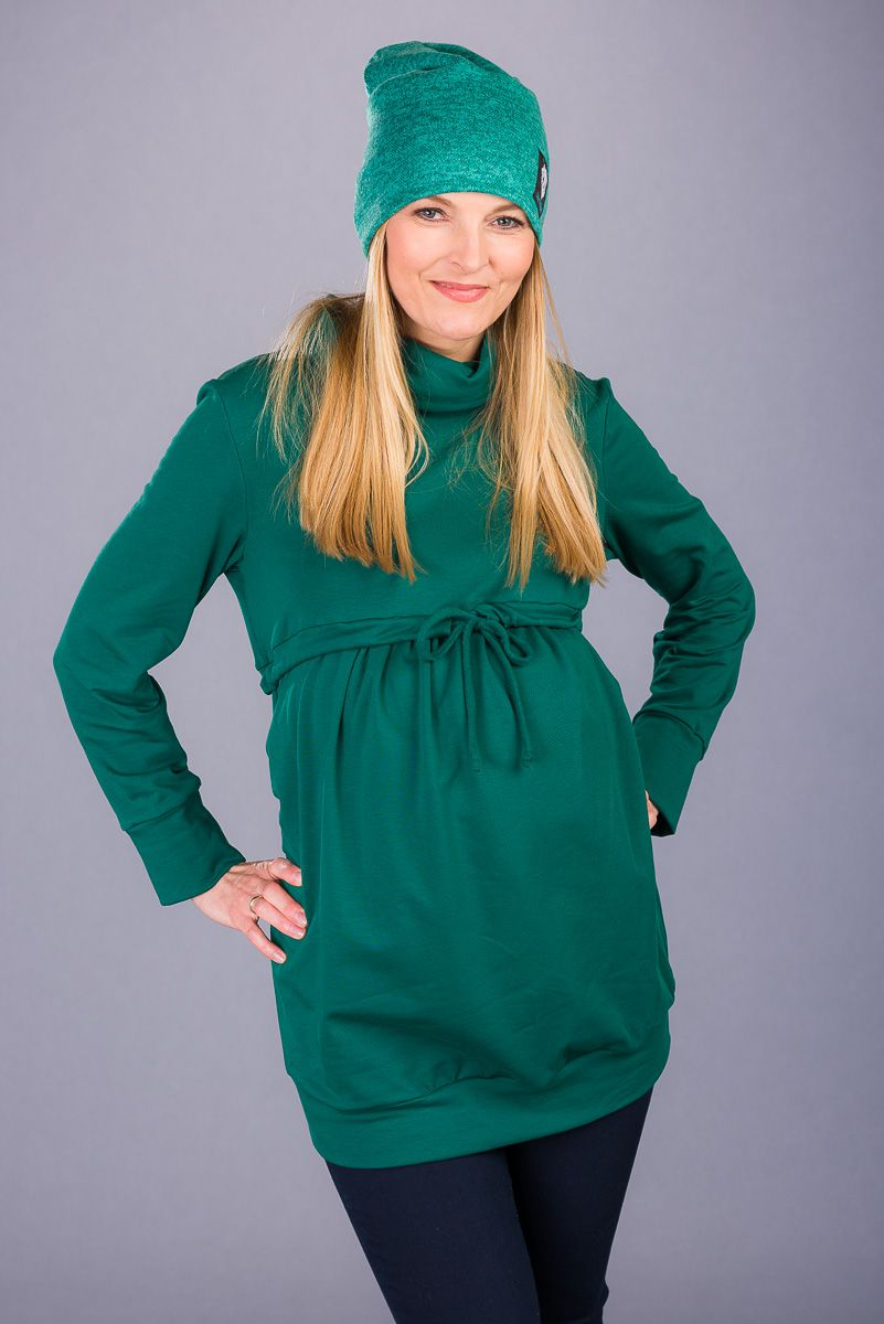 Těhotenská halenka BEBEFIELD - Amber Green