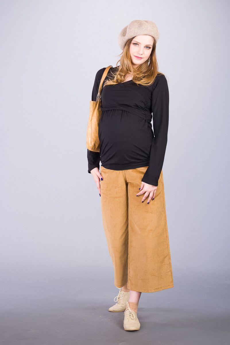 Těhotenská halenka BEBEFIELD - Maude Black