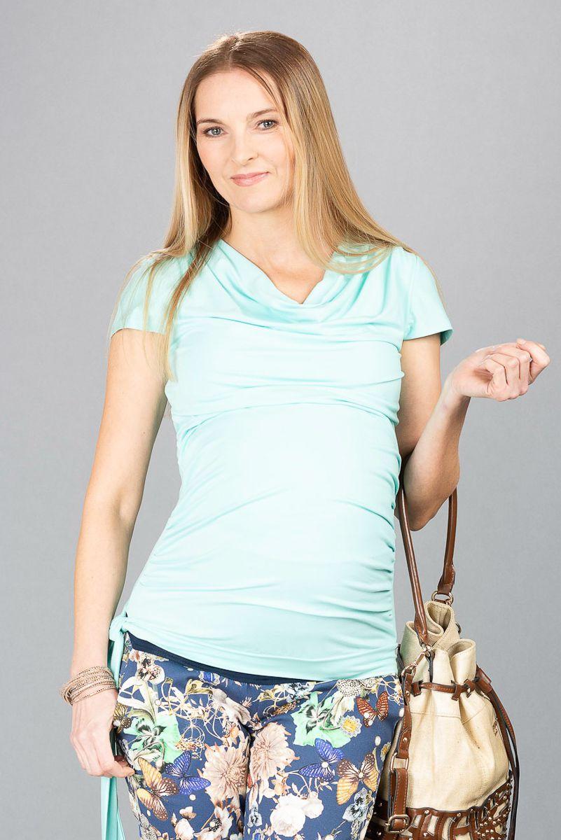Těhotenská halenka BEBEFIELD - Patrizia Mint - Velikost 38
