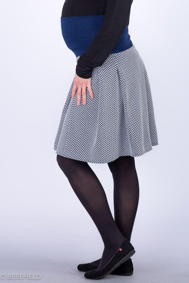 Těhotenská sukně BEBEFIELD - Elsa Navy & White