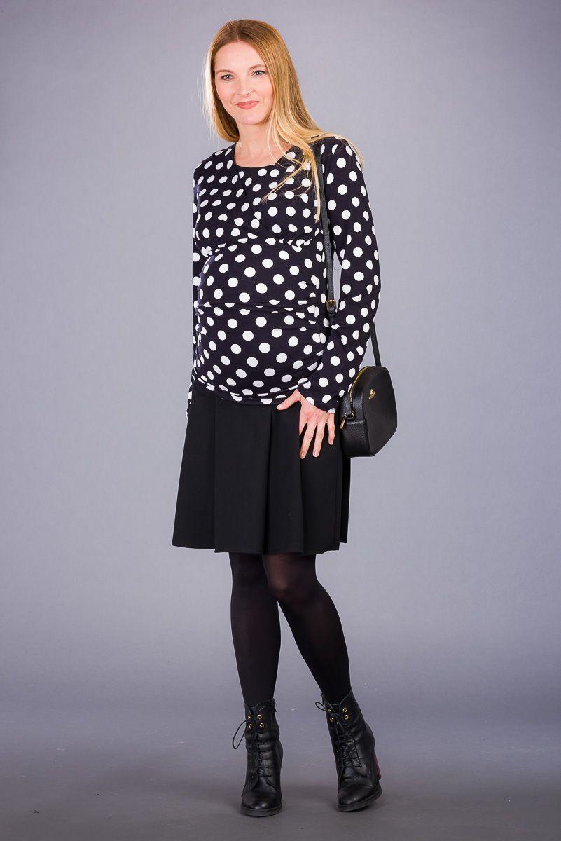 Těhotenská sukně BEBEFIELD - Mirelle Black