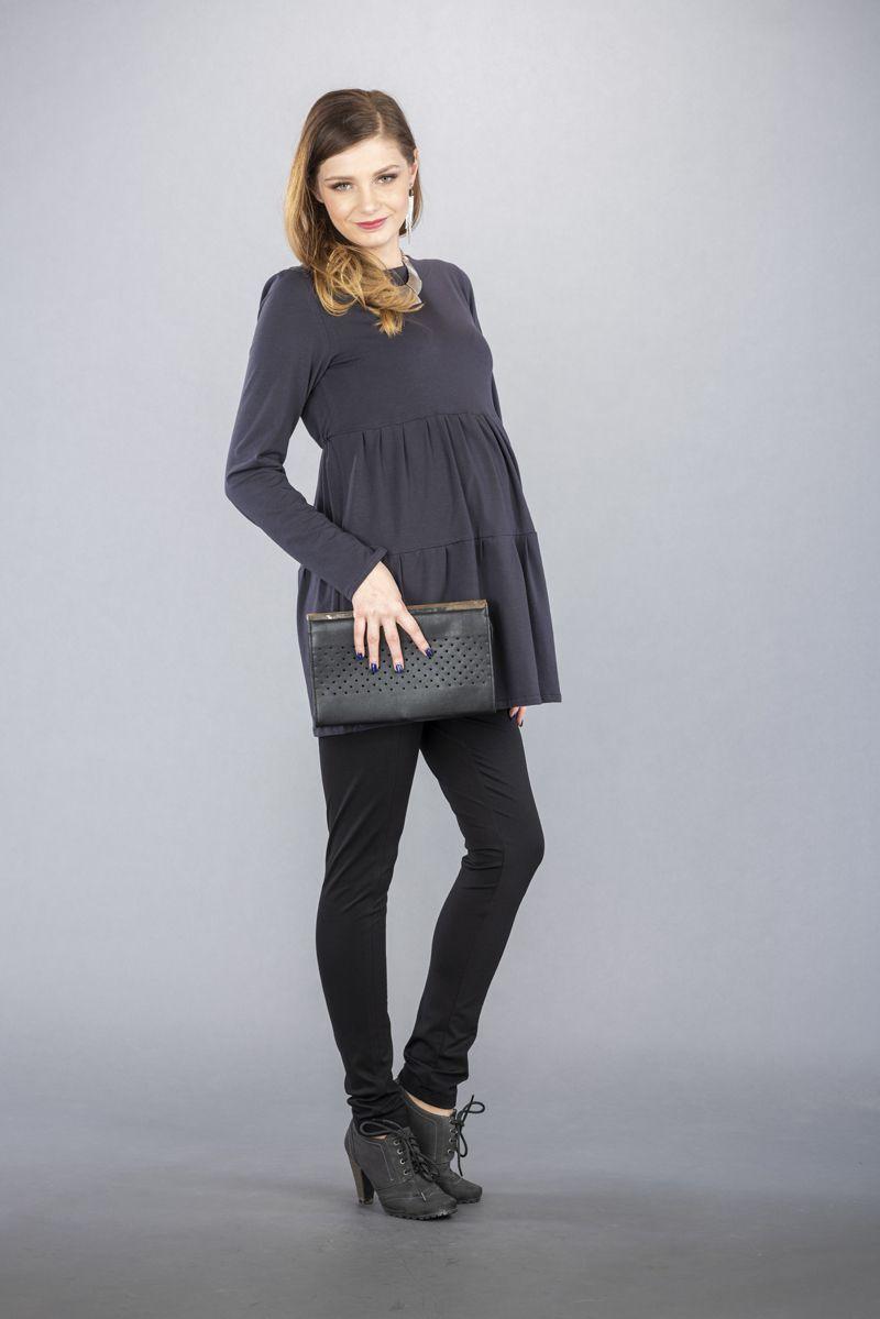 Těhotenské kalhoty BEBEFIELD - Mino Black
