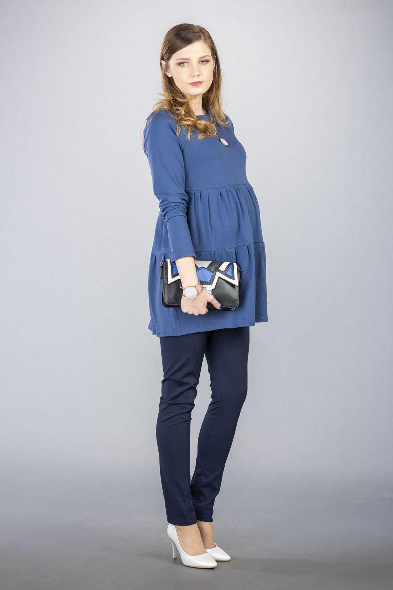 Těhotenské kalhoty BEBEFIELD - Mino Navy