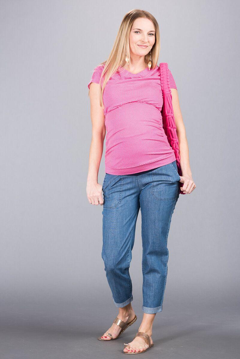 Těhotenské kalhoty BEBEFIELD - Verona Jeans