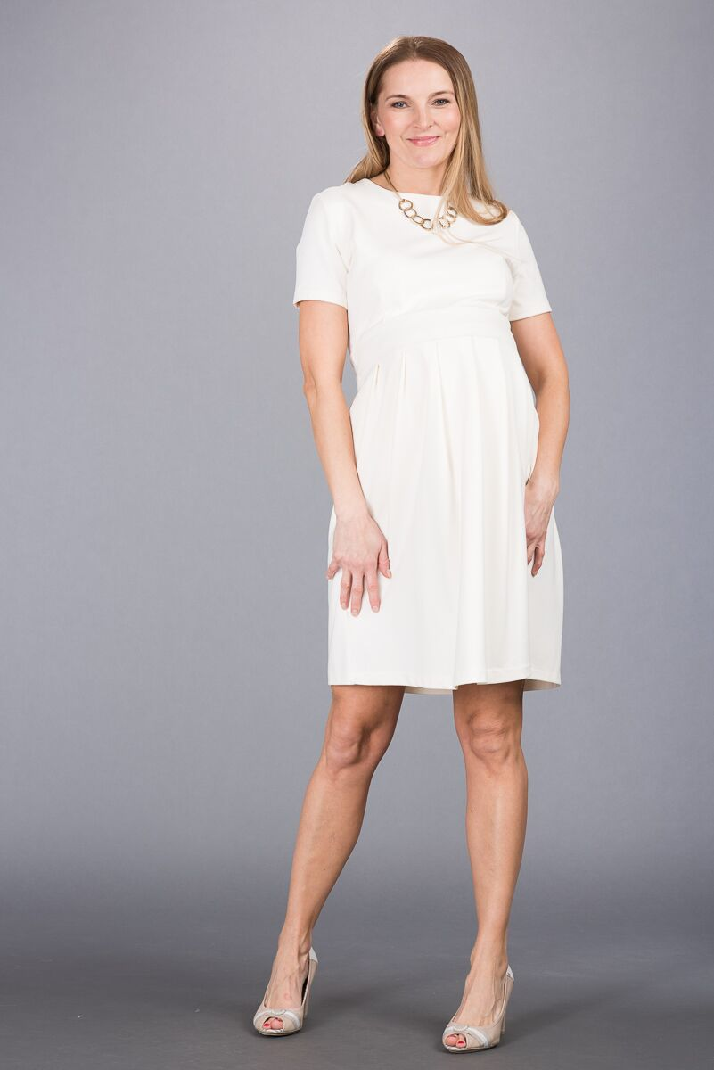 Těhotenské šaty BEBEFIELD - Jessica Ecru