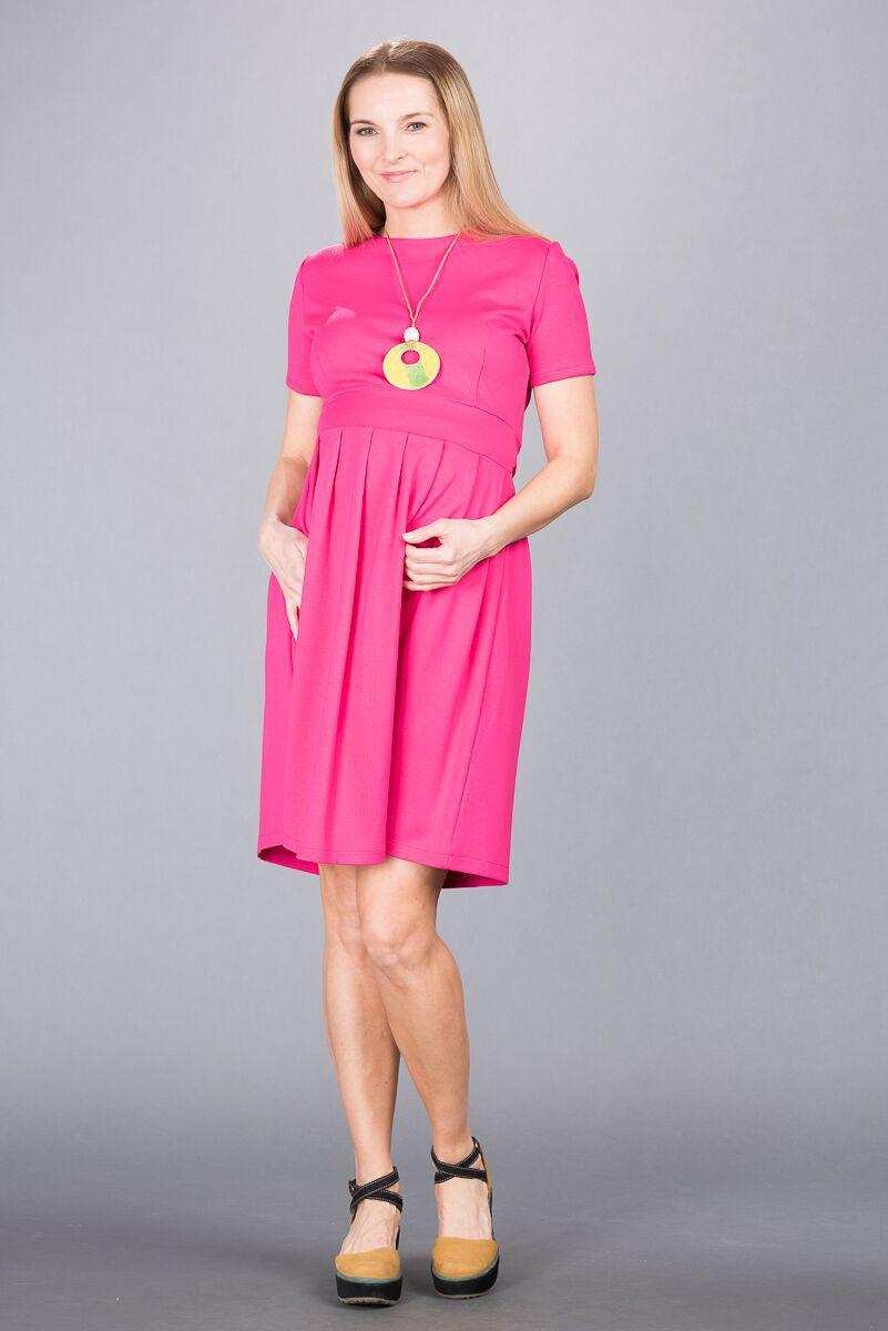 Těhotenské šaty BEBEFIELD - Jessica Fuchsia