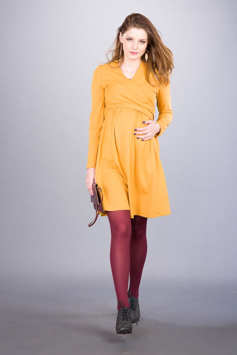 Těhotenské šaty BEBEFIELD - Julianna Ochre