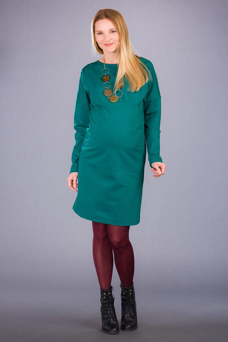 Těhotenské šaty BEBEFIELD - Lena Dark Green